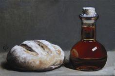 Bread & Fig Balsam, oils on linen over panel, James Gillick