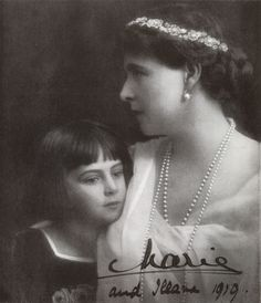 H.M. The Queen of Rumania with H.R.H. Princess Ileana - Country Life Old Photos, Vintage Photos, Queen Victoria Children, Facts About People, The Royal Collection, Young Prince, Kaiser, Prince And Princess, Ferdinand