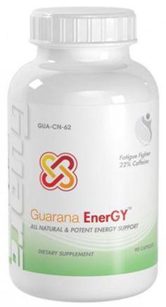 Guarana enerGY Fatigue Fighter 22% Caffeine Guarana Seed Extract 900mg 90 Capsules 1 Bottle