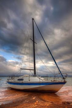 A yacht appears to sail on clay Multiple Exposure, Dynamic Range, Hdr, Sailing Ships, Shots, Clay, World, Photography, Travel