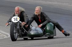 old skool... your never too old, and if we are not mistaken, these two sporting smiles... thumbs up