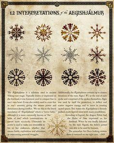 aegishjalmur | 12 Interpretations of the Aegishjalmur by Maurautius