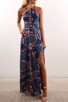 Pixie Dust Maxi Dress Navy