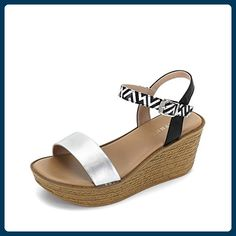 Europäische Mode-plateau-schuhe/Geometrische Patchwork-schnalle Mit Sandalen-B Fußlänge=22.8CM(9Inch) - Sandalen für frauen (*Partner-Link)