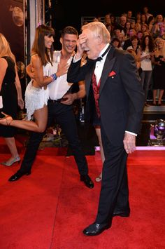 Pin for Later: This Week's Can't-Miss Celebrity Photos  Bruce Forsyth couldn't believe he was back at Strictly Come Dancing.