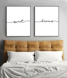 Sweet Dreams Printable Wall Art | Instant Download | #bedroomideas #ad #homedecor