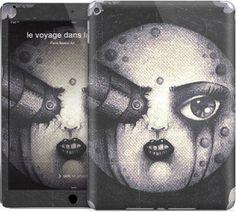 le voyage dans la lune by Paola Beatrix Art - iPad Skins - $30.00