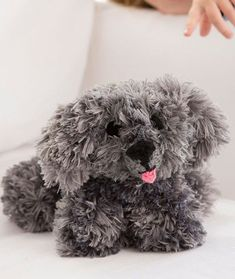 If you like to knit stuffed animals, as I do, try making My Precious Puppy, free knitting pattern from Red Heart! Knitted Stuffed Animals, Knitted Animals, Animals Dog, Crochet Dog Patterns, Knitting Patterns Free, Free Pattern, Cute Little Dogs, Easy Knitting, Knitting Toys