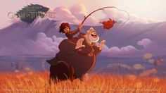 Game of Thrones characters drawn by Disney