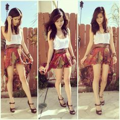 High to low skirt High Low Skirt, My Heart Is Breaking, Passion For Fashion, Boho Shorts, Cheer Skirts, Fashion Forward, Skater Skirt, Personal Style, Style Inspiration