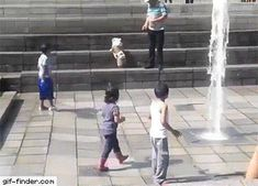 Child falling over
