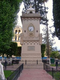 El reloj de la plaza.  Parras Coahuila.