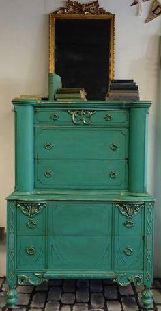 Get This Look With Gf Patina Green Milk Paint Van Brown Glaze