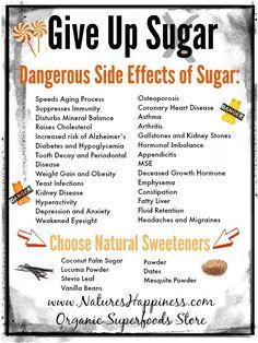 Eliminating Processed Sugars