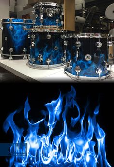 Blue Diablo Flames DW.. sorta reminds me of the Ride the lighting album by Metallica.