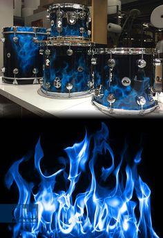 Blue Diablo Flames DW