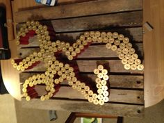 Shotgun shell Browning symbol. Made for the hubby's best friend