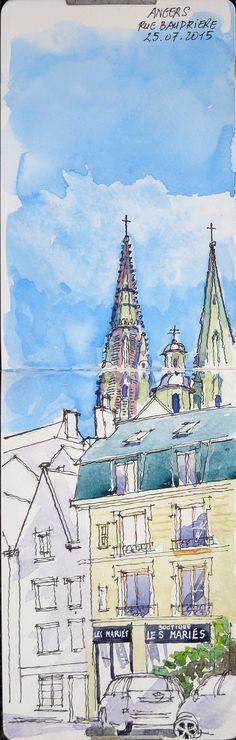 48 ème Sketchcrawl - Angers - Rue Baudrière - 25 07 2015