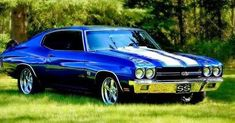 CHEVY BLUE SPORT CHEVELLE SS