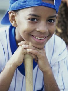 Close-up of a Boy From a Little League Baseball Team Photographic Print at AllPosters.com