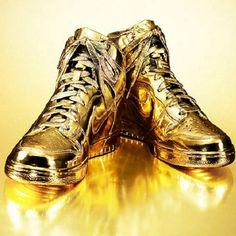 24K Gold Nike Dunks!!!!!