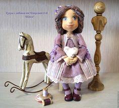 Купить Шейли текстильная коллекционная, интерьерная кукла - куколка, текстильная игрушка, текстильная кукла, проволока