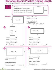 107 Best 5th Math Perimeter Area Volume Images