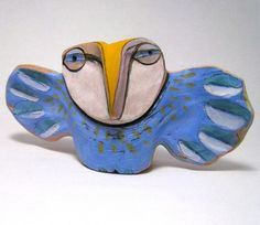 Owl Sculpture, Whimsical Ceramic, Art...Owl Person Holding Herself Open to Knowing that she is the Dream of Love,
