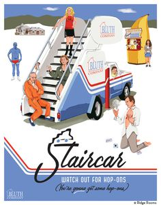 STAIRCAR AP Print  Arrested Development by RidgeRooms on Etsy