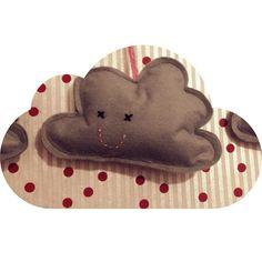 Homemade felt clouds for baby boy.