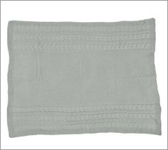 Chenille Seedstitch Cable Border Knit Throw | Pottery Barn