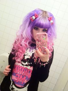 Pastel Goth with tri colored hair