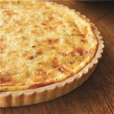 purest of quiches, with its egg custard enhanced only with salty bacon ...