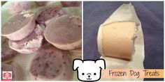 How to make Frosty Paws or Frozen Dog treats