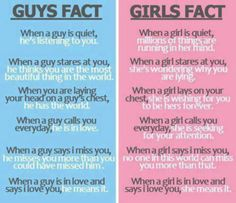 Guy/Girl Facts