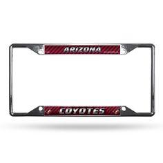 Arizona Coyotes License Plate Frame Chrome EZ View Special Order