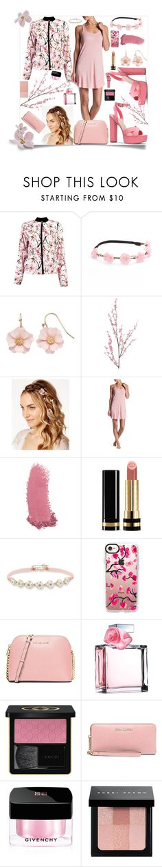 """""""Cherry Blossoms"""" by bitty-junkkitty ❤ liked on Polyvore featuring Boohoo, Mudd, LC Lauren Conrad, Pier 1 Imports, Josette, Barefoot Dreams, Gucci, Betsey Johnson, Casetify and MICHAEL Michael Kors"""