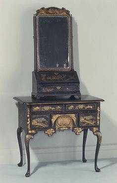1700-1730 British Shaving stand at the Metropolitan Museum of Art, New York