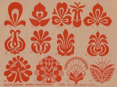 Hungarian Embroidery motívumok 2 Hungarian design - what I'd do to get my hands on some fabric, with… Hungarian Embroidery, Folk Embroidery, Learn Embroidery, Embroidery Stitches, Embroidery Patterns, Silkscreen, Folk Art Flowers, Bordados E Cia, Embroidery Techniques