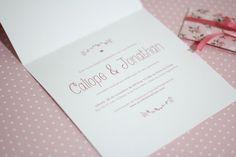 O Mundo de Calíope: Convite de Casamento - DIY