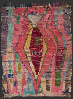 PostPunkPink - boucherouite from Blazek gallery Berber Carpet, Berber Rug, African Rugs, Modern Tapestries, Morrocan Rug, Square Rugs, Textile Fiber Art, Weaving Textiles, Kilims