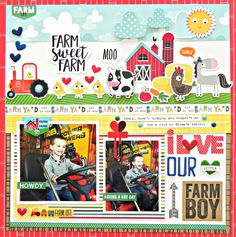 Bella Blvd | Barn Yard Collection | Layout by Stephanie Buice