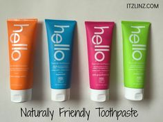 hello naturally friendly toothpaste - amazing flavors: Peach Mango Mint.  Supermint.  Pink Grapefruit Mint.  Mojito Mint. #sponsored