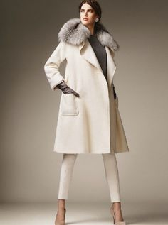 max mara white coat with fur