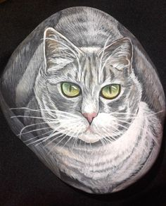 Custom Pet Portraits/Cat/Hand Painted Stones/Pet Memorial Stones/Great Gifts/Home decor Paper weights / Pet Memorial on Etsy