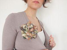 rosette brooch from a neck tie! by liliana sterfield on etsy.
