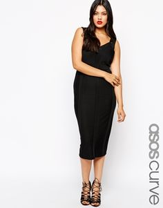MOTHER OF THE BRIDE : ANOTHER GREAT DRESS FOR YOU!  ASOS CURVE Sculpt Bandage Dress in Longer Length. Color as shown.
