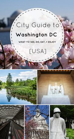 City Guide to Washington DC: What to See, Do, Eat, and Enjoy >> 15+ things to do in Washington DC. Perfect summer trip from NYC (or anywhere on the East Coast for that matter!) So glad I pinned this -- saving for later!