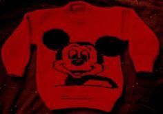 Rendas da Mãe: Camisola de tricot Mickey