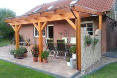 Pergola For Small Backyard Backyard Seating, Backyard Landscaping, Diy Pergola, Pergola Kits, Pergola Ideas, Wood Online, Rustic Houses Exterior, Design Exterior, Backyard Furniture